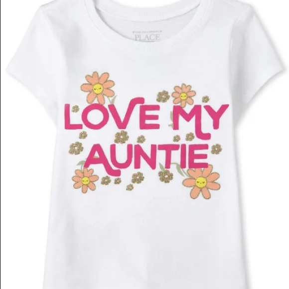 """TCP Graphic Tee """"Love My Auntie,"""" White, Size 5T"""
